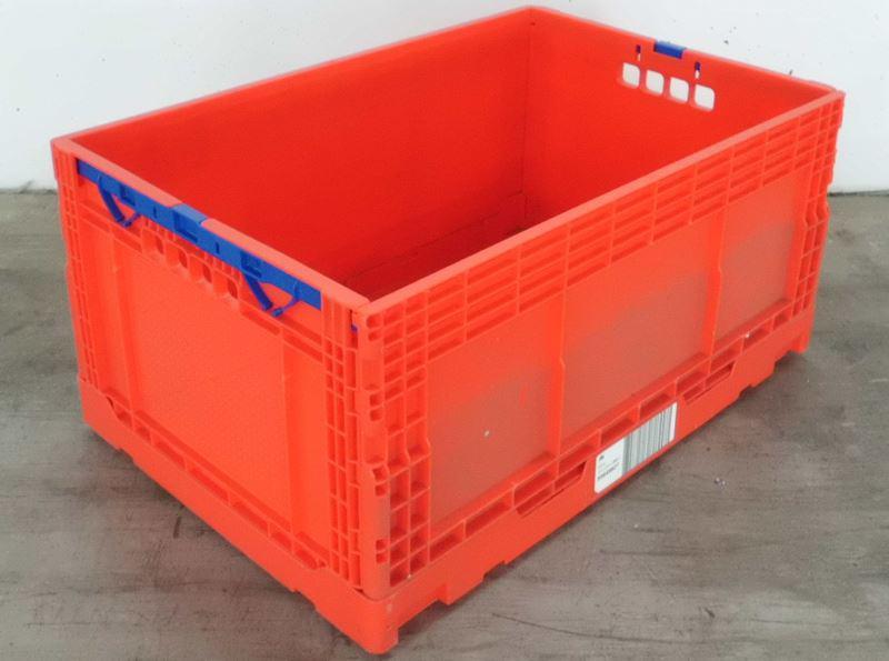 klappbox 600x400 h285mm rot gebraucht. Black Bedroom Furniture Sets. Home Design Ideas