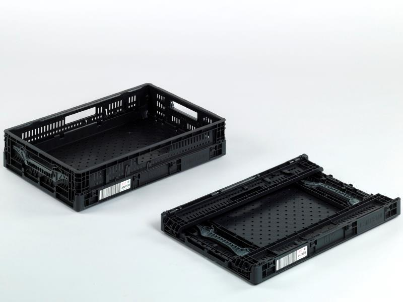 klappbox 600x400 h120mm schwarz fabrikneu online kaufen. Black Bedroom Furniture Sets. Home Design Ideas