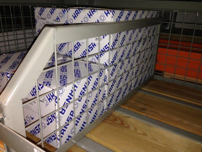 Trennwand f r industrie gitterboxpalette halbhoch - Papier trennwand ...