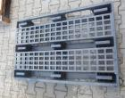 Plastic pallet 1200x800x150mm, with skids