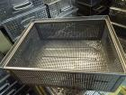 Stacking transport boxes, 415x330x155mm, perforated